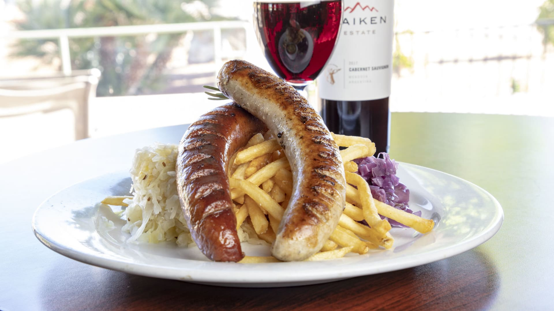 sausage and fries