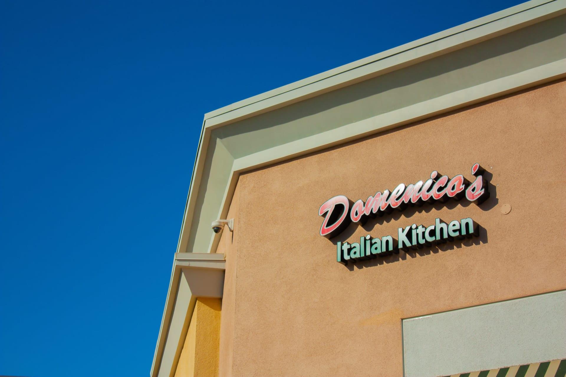 Outside of Domenico's Italian Kitchen restaurant