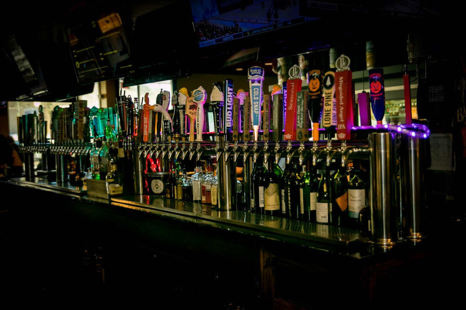 draft beer selection at New England's Tap House Grille