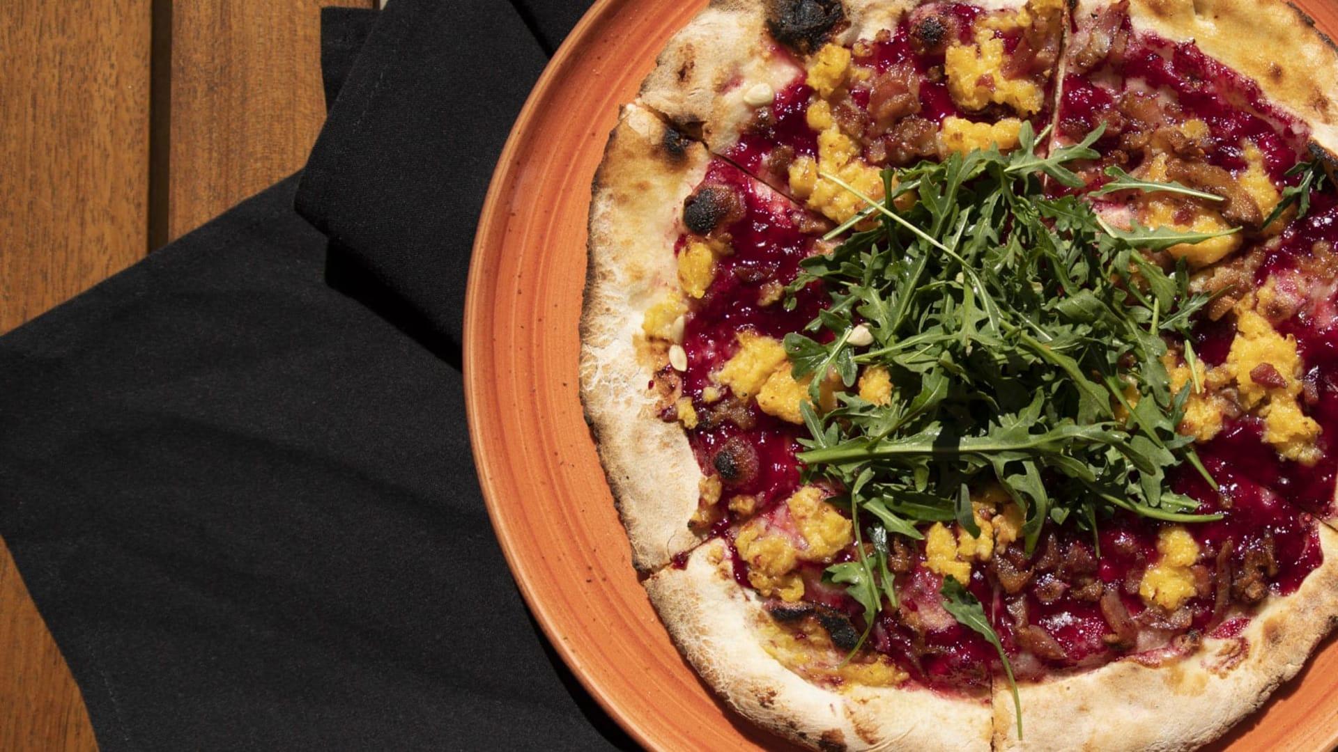 Meatballs tacos blackberry pizza