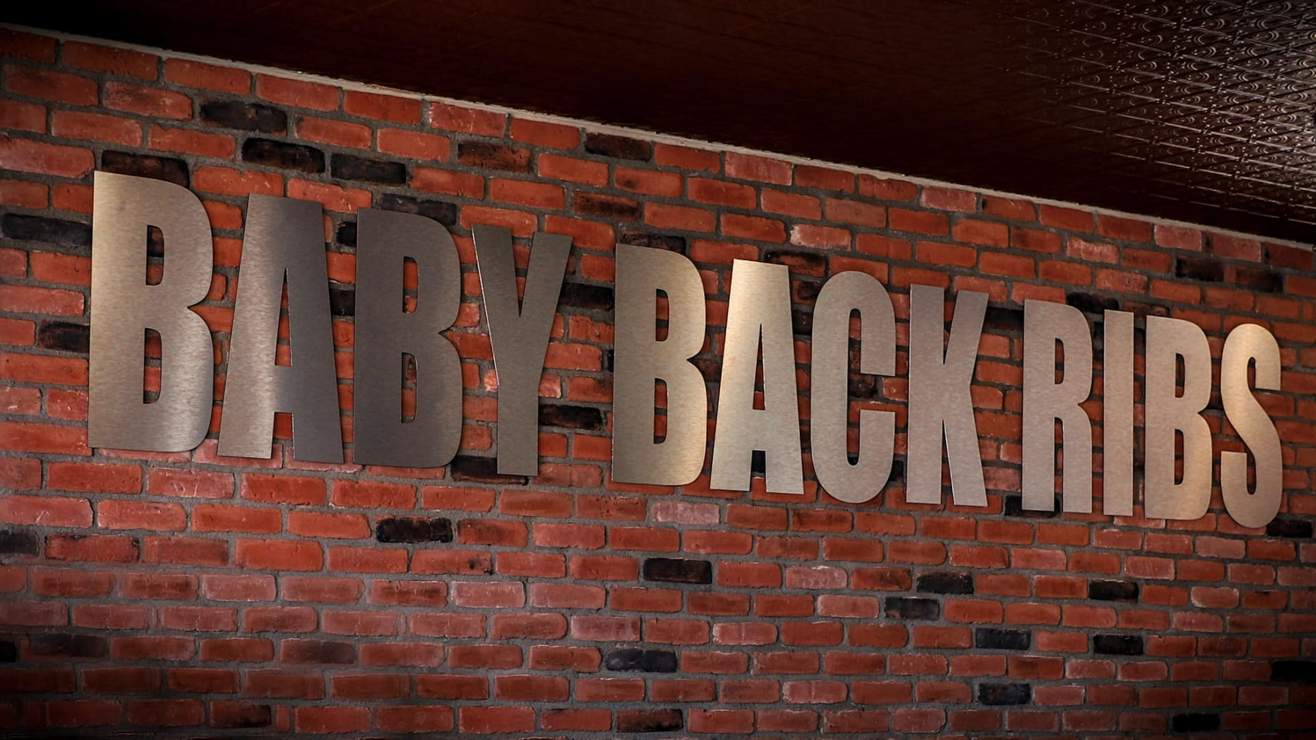 baby back ribs sign