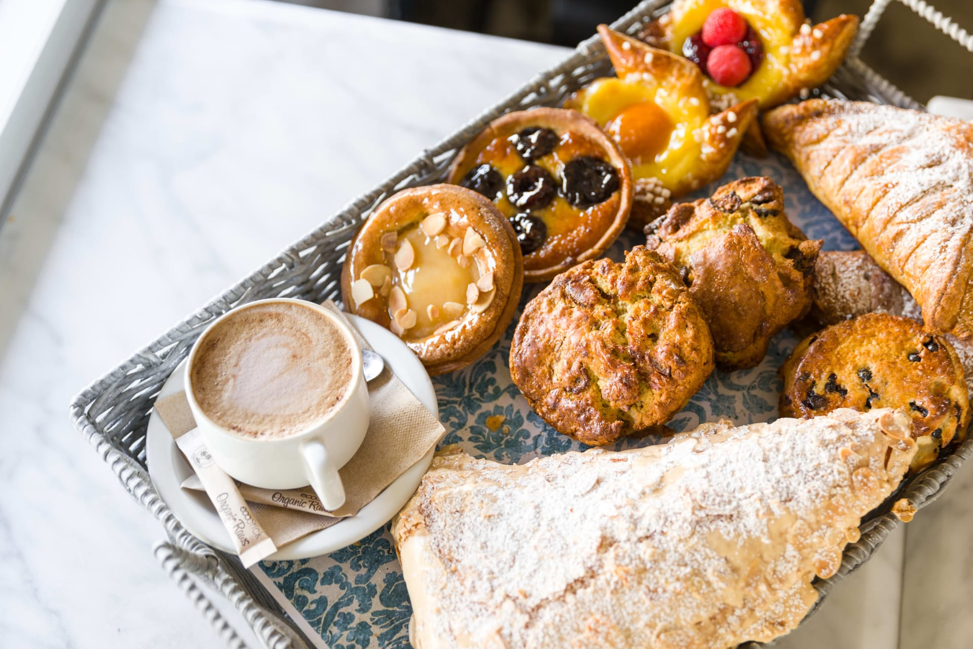 pastries and cappucino