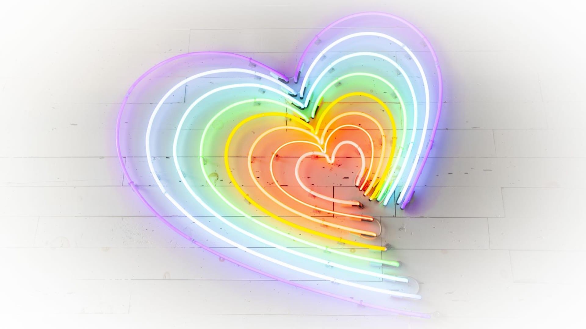 neon heart logo