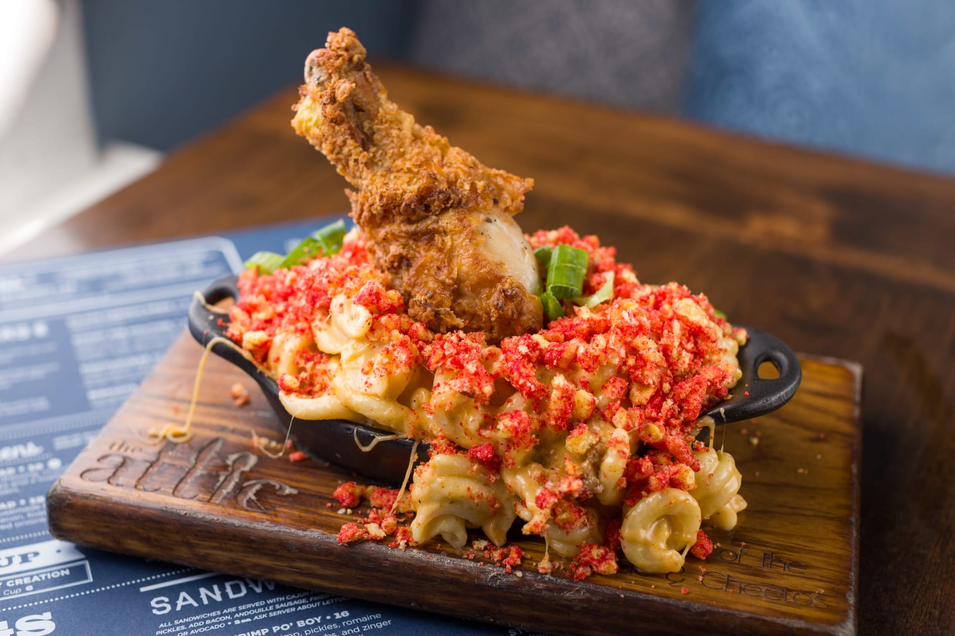 fried chicken mac and cheese
