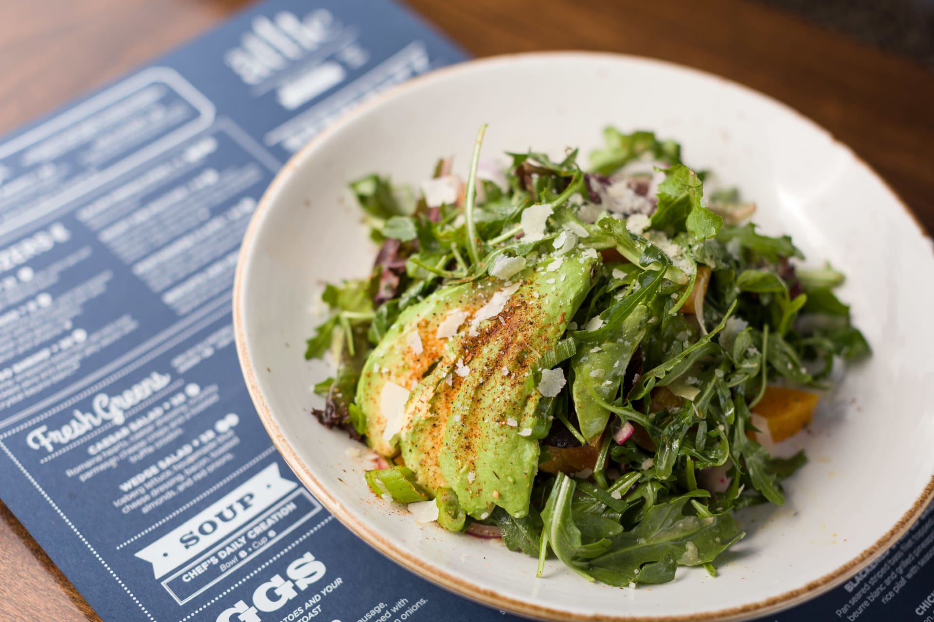 arugula and avocado salad
