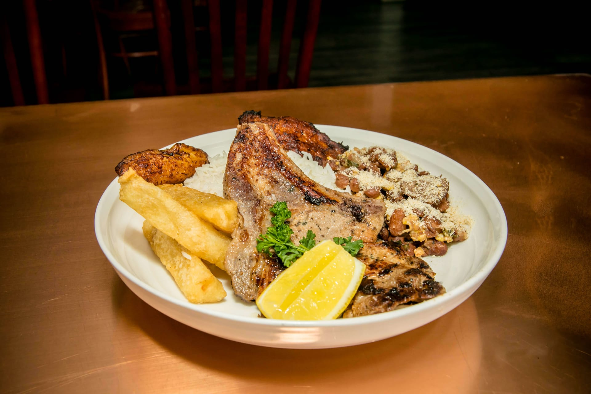 popular plate porkchop