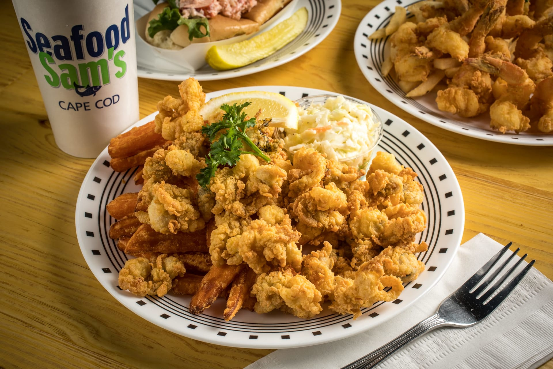 fried clam platter