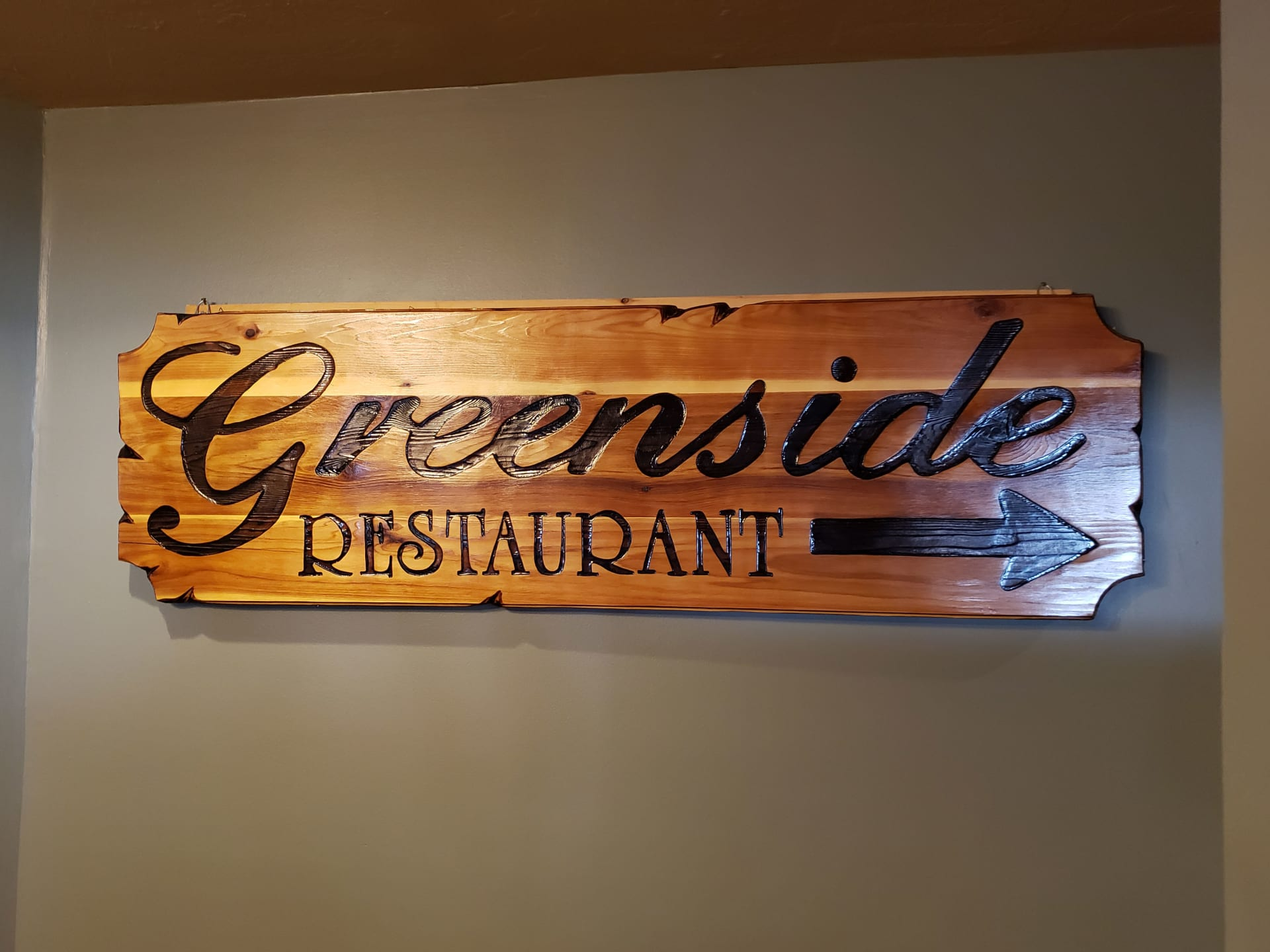 greenside restaurant sign