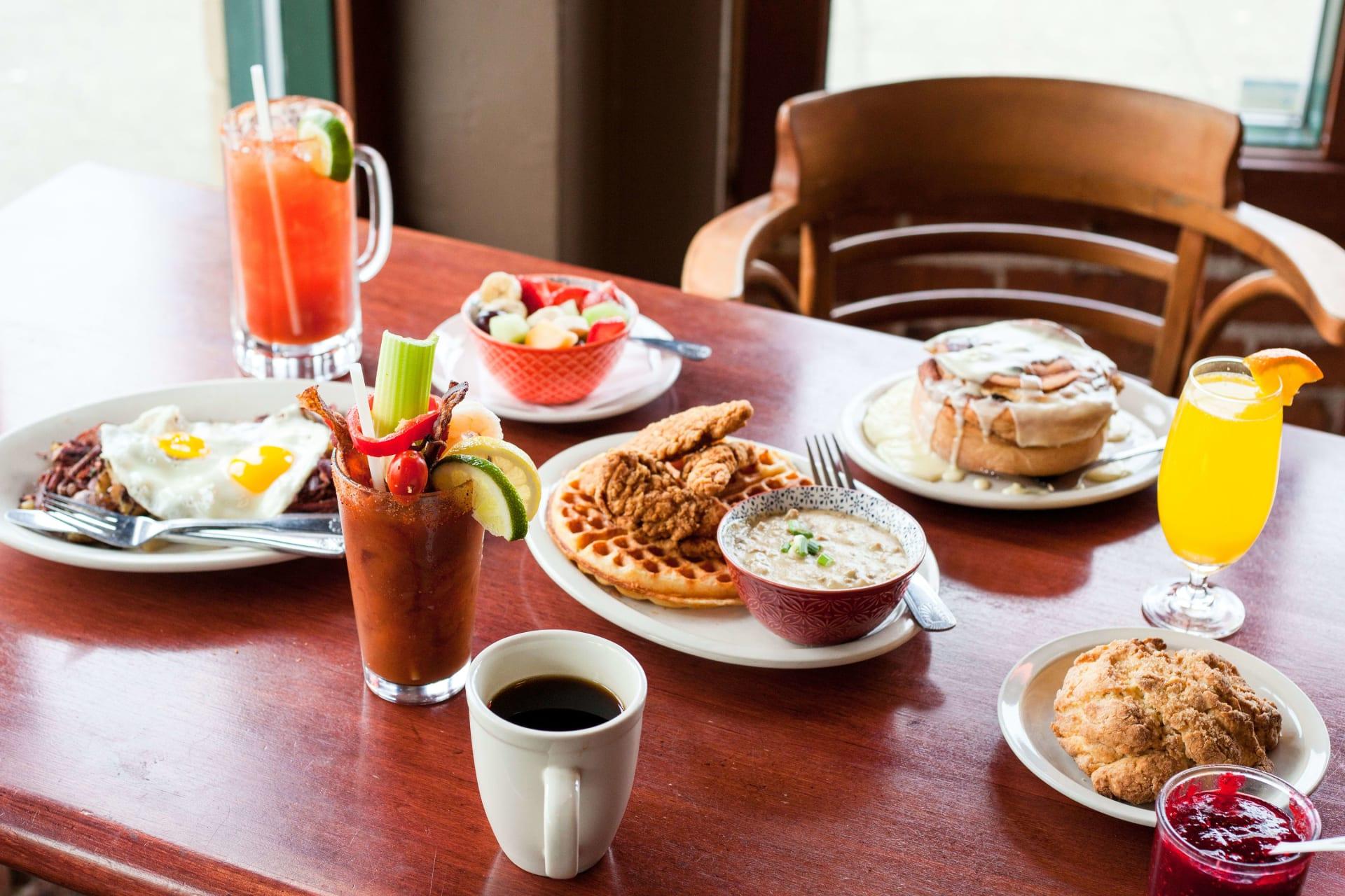 breakfast goods and drinks