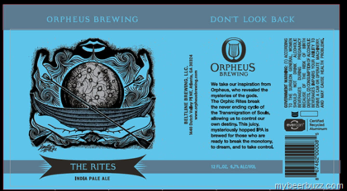 Orpheus The Rites IPA