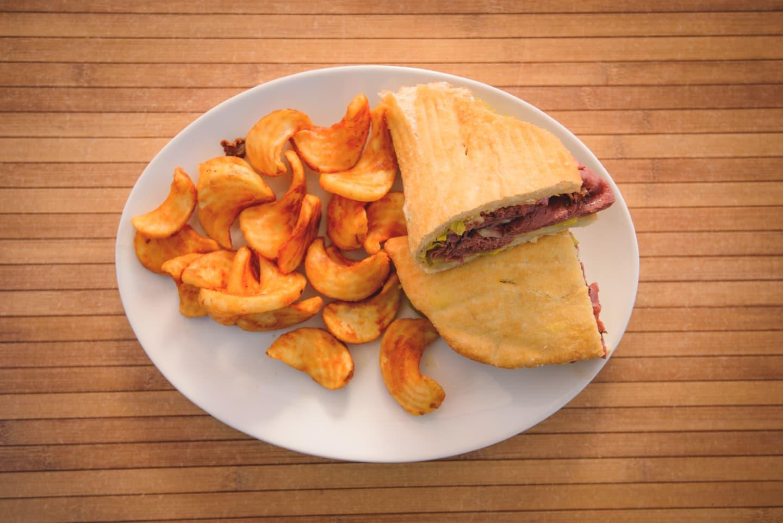 FRY BREAD PASTRAMI SANDWICH