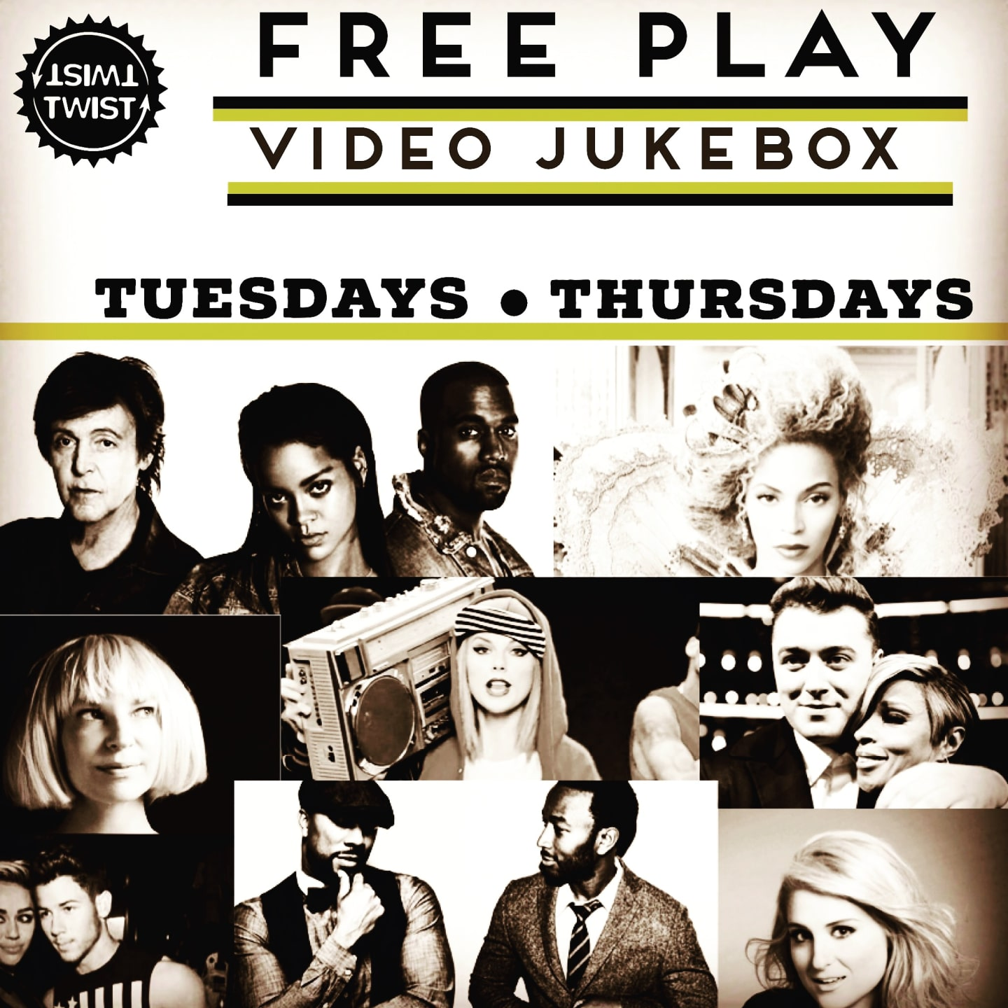 Tuesday & Thursday - Free Video Jukebox
