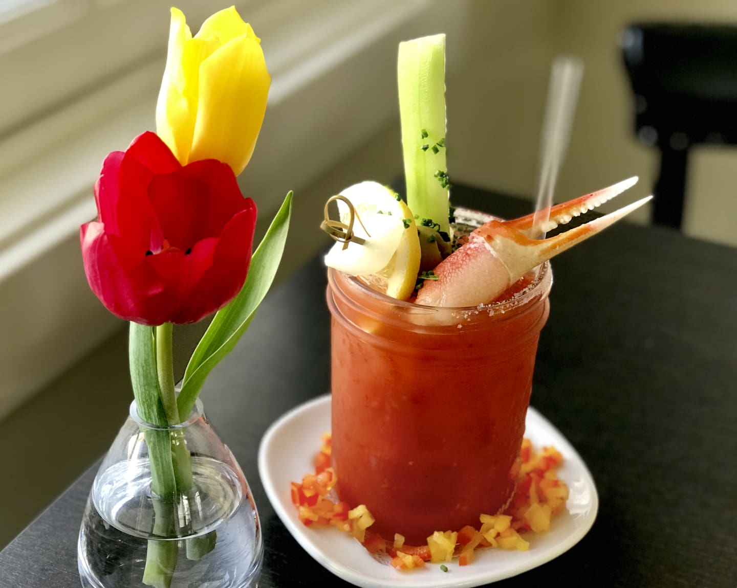 Smoked Chipotle, Crab & Cucumber Bloody Mary