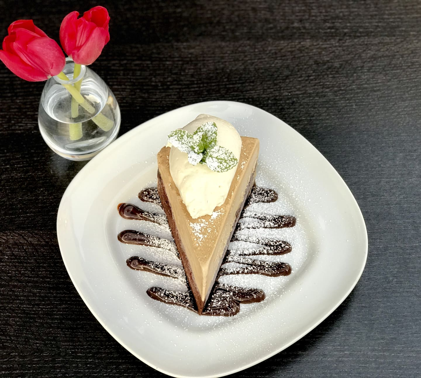 Mississippi Mud Pie w/ Coffee Ice Cream, Oreo Crust,  Chocolate Sauce & Whip Cream