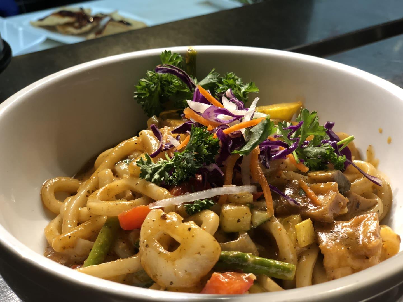 Udon noodle vegetales AND TOFU
