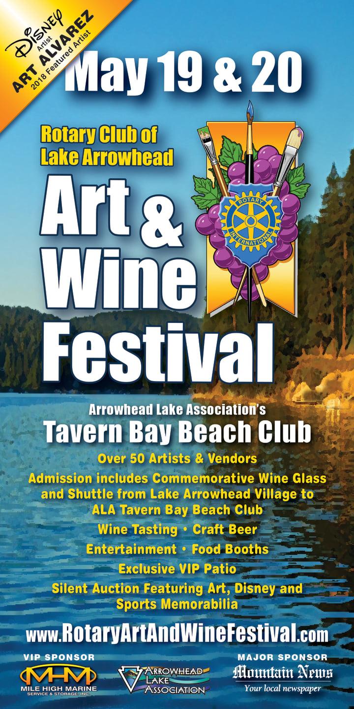 May 19th & 20th | Rotary Club of Lake Arrowhead Art & Wine Festival