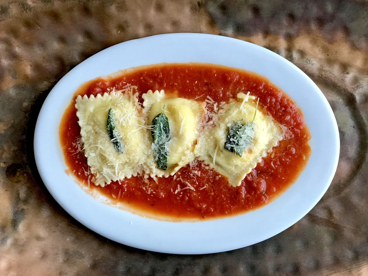 Cheese & Marinara Ravioli