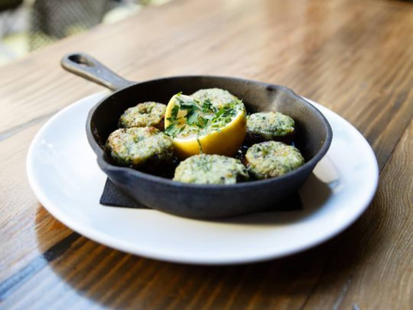 Roasted Mushrooms Escargot Style