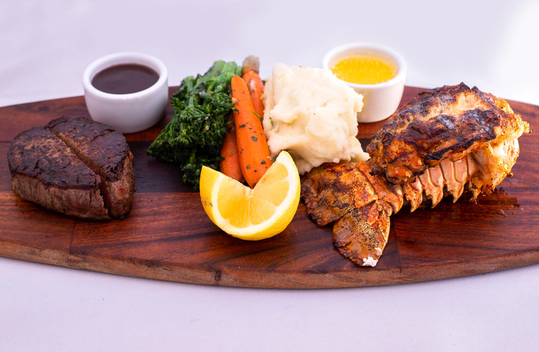 8oz Prime Filet Mignon w/ 6oz Lobster Tail
