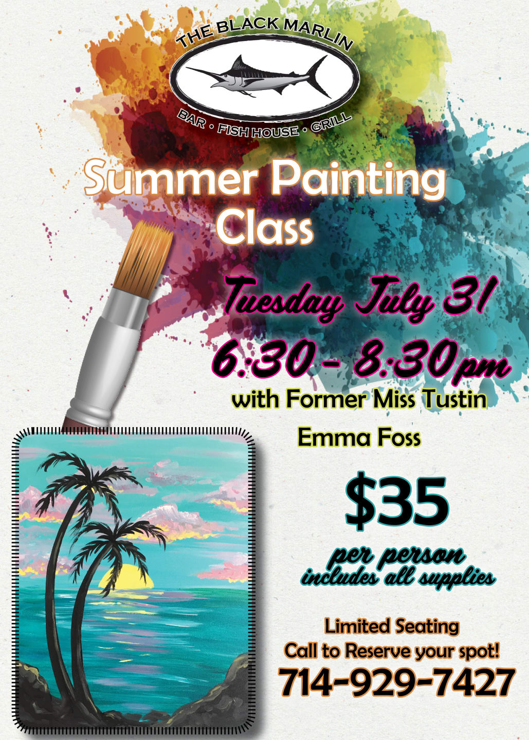 JULY 31 - Summer Painting Class