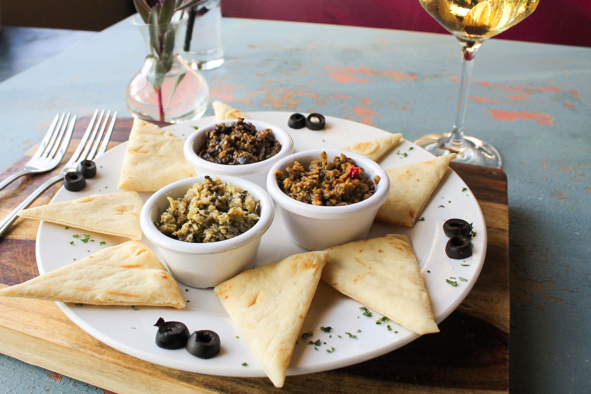 Greek Olive Tapenades Trio w/Pita