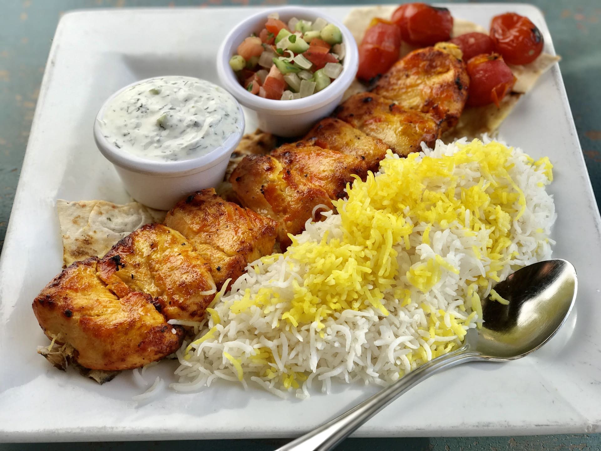 Chicken Breast Kabob Lunch