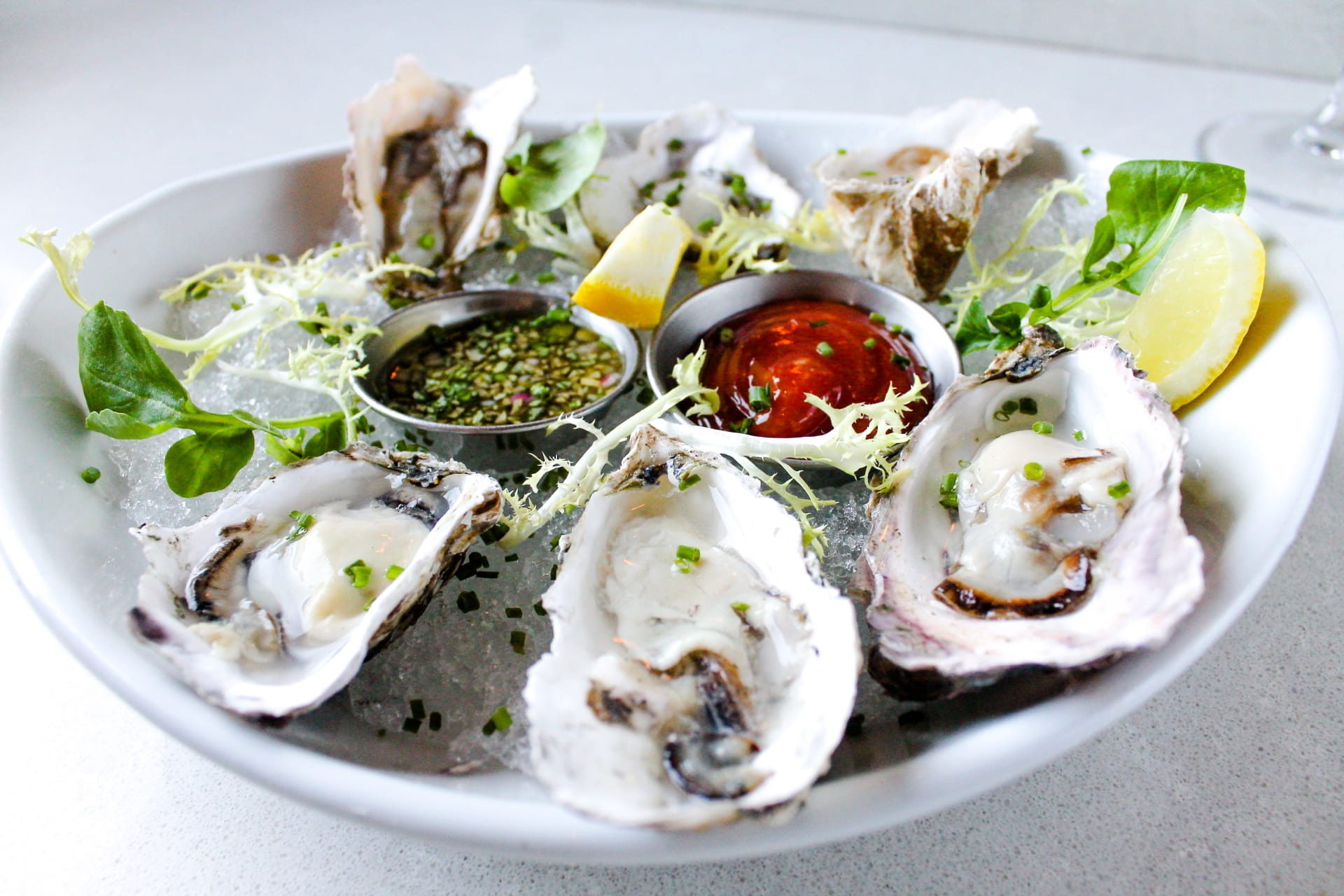 Market Fresh Oysters on the Half Shell