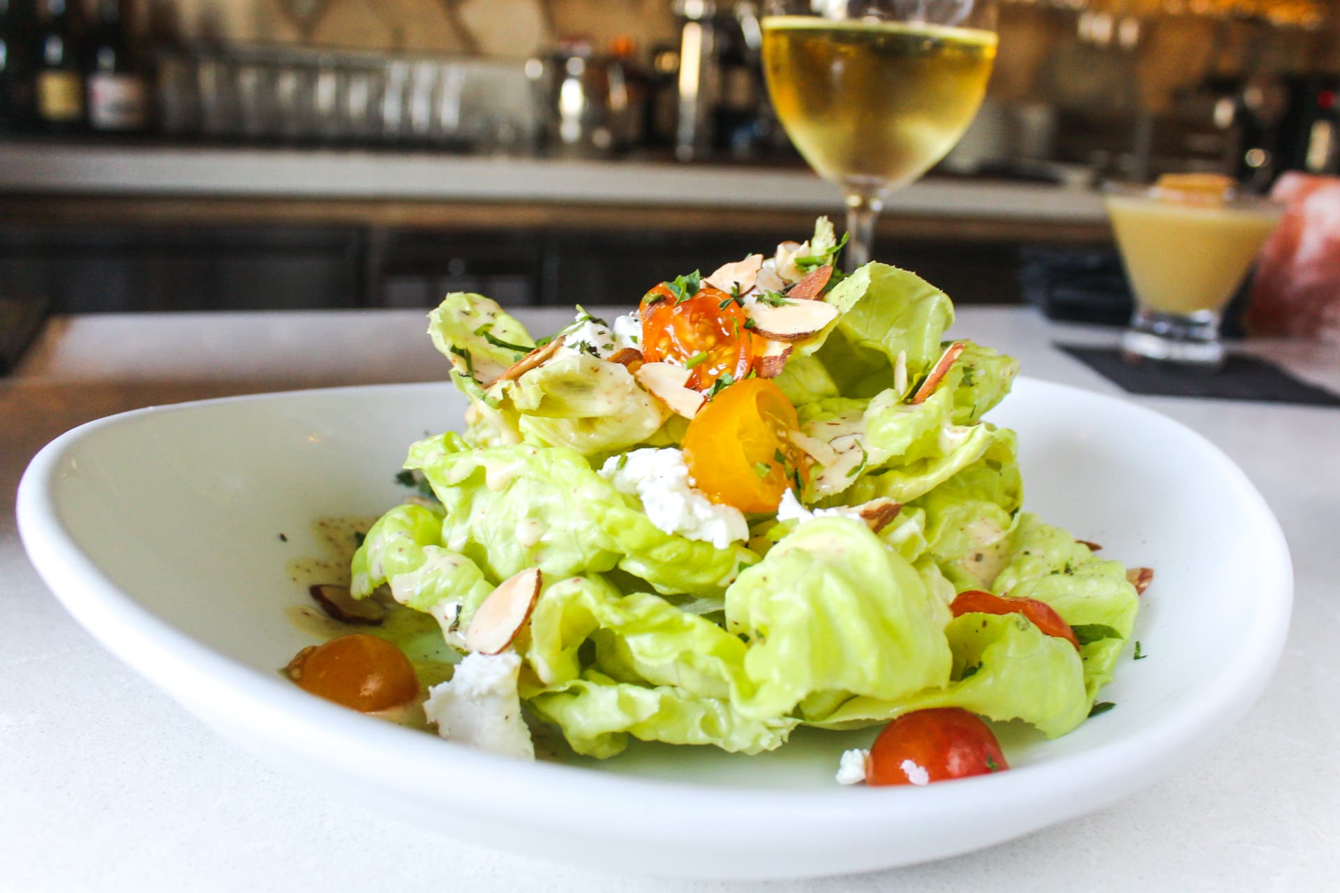 Organic Butter Lettuce & Herbed Goat Cheese Salad