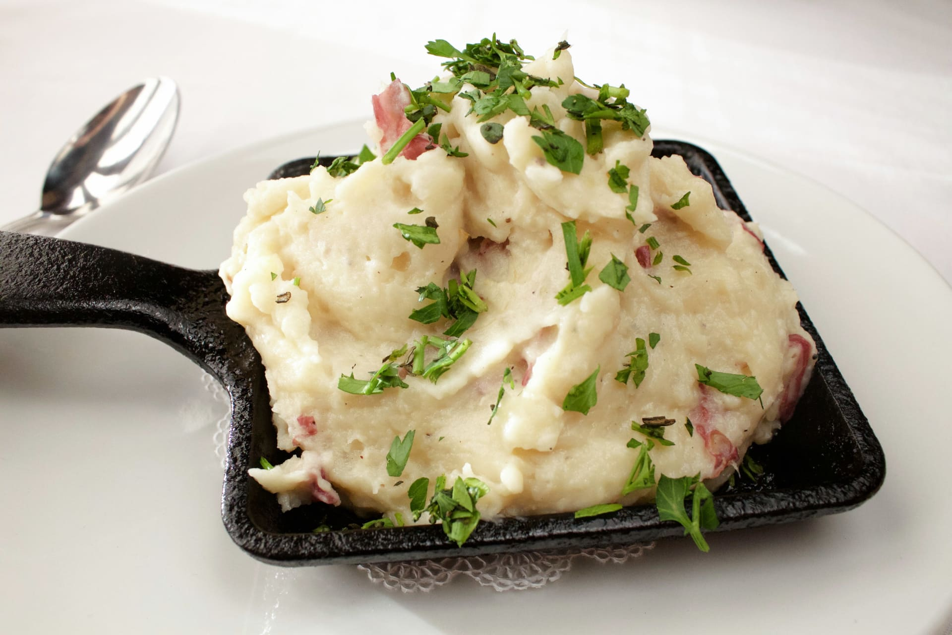 Garlic & Creme Fraiche Mashed Red Potatoes