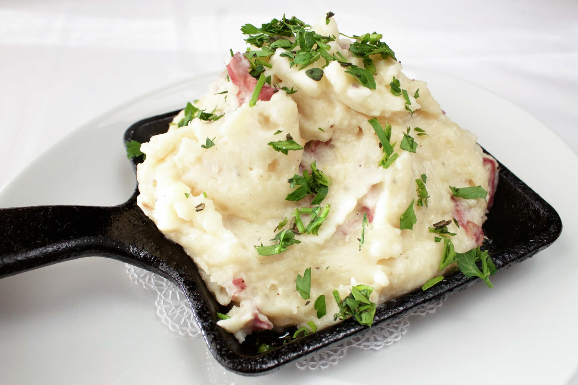 Melted Garlic & Crème Fraiche Mashed Potatoes