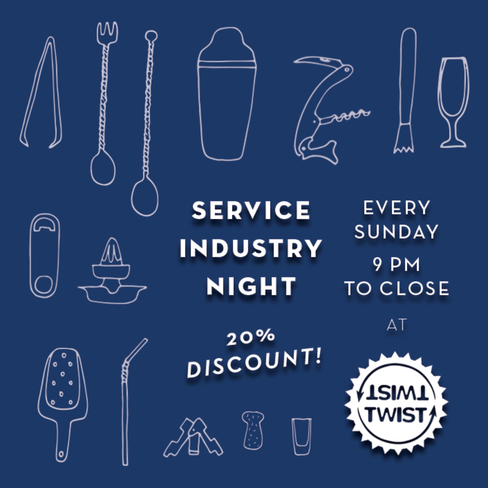 Sunday - Service Industry Night
