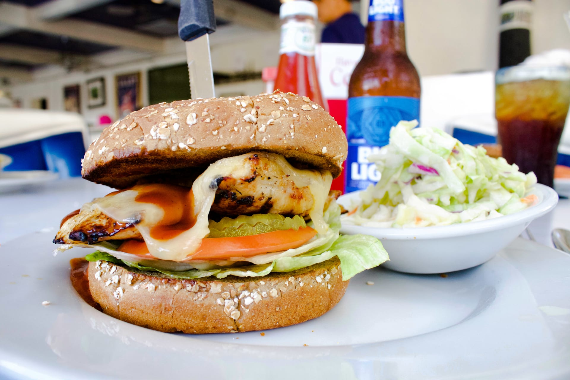 Chicken & Swiss Burger