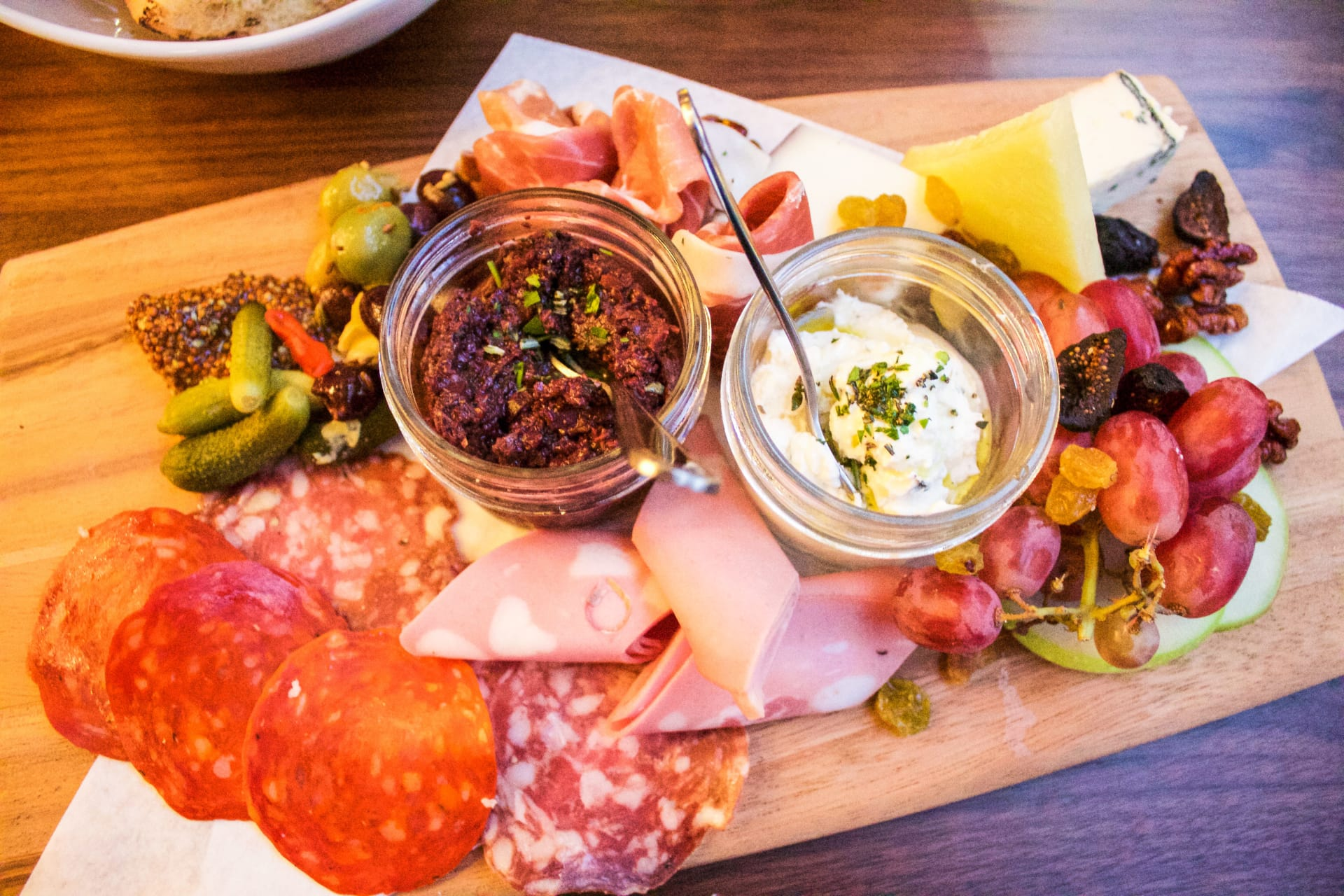 Artisan Cheeses & Cured Meats Board