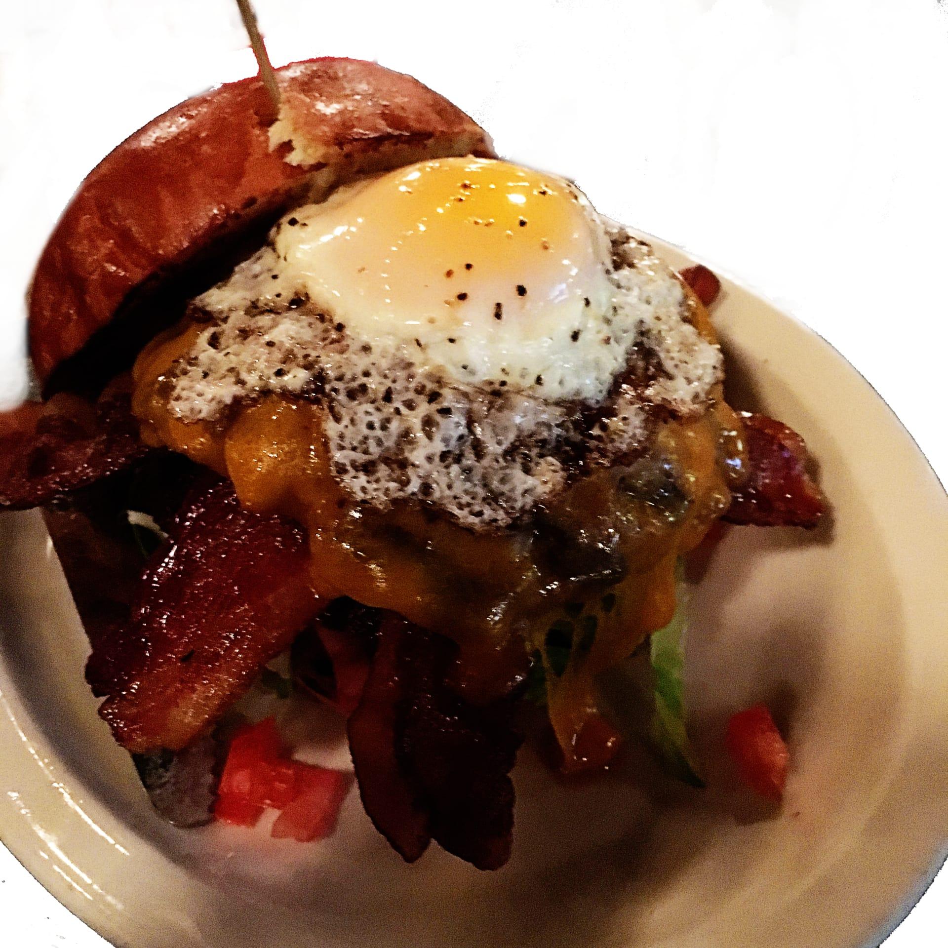 Bacon Egg & Cheddar Burger