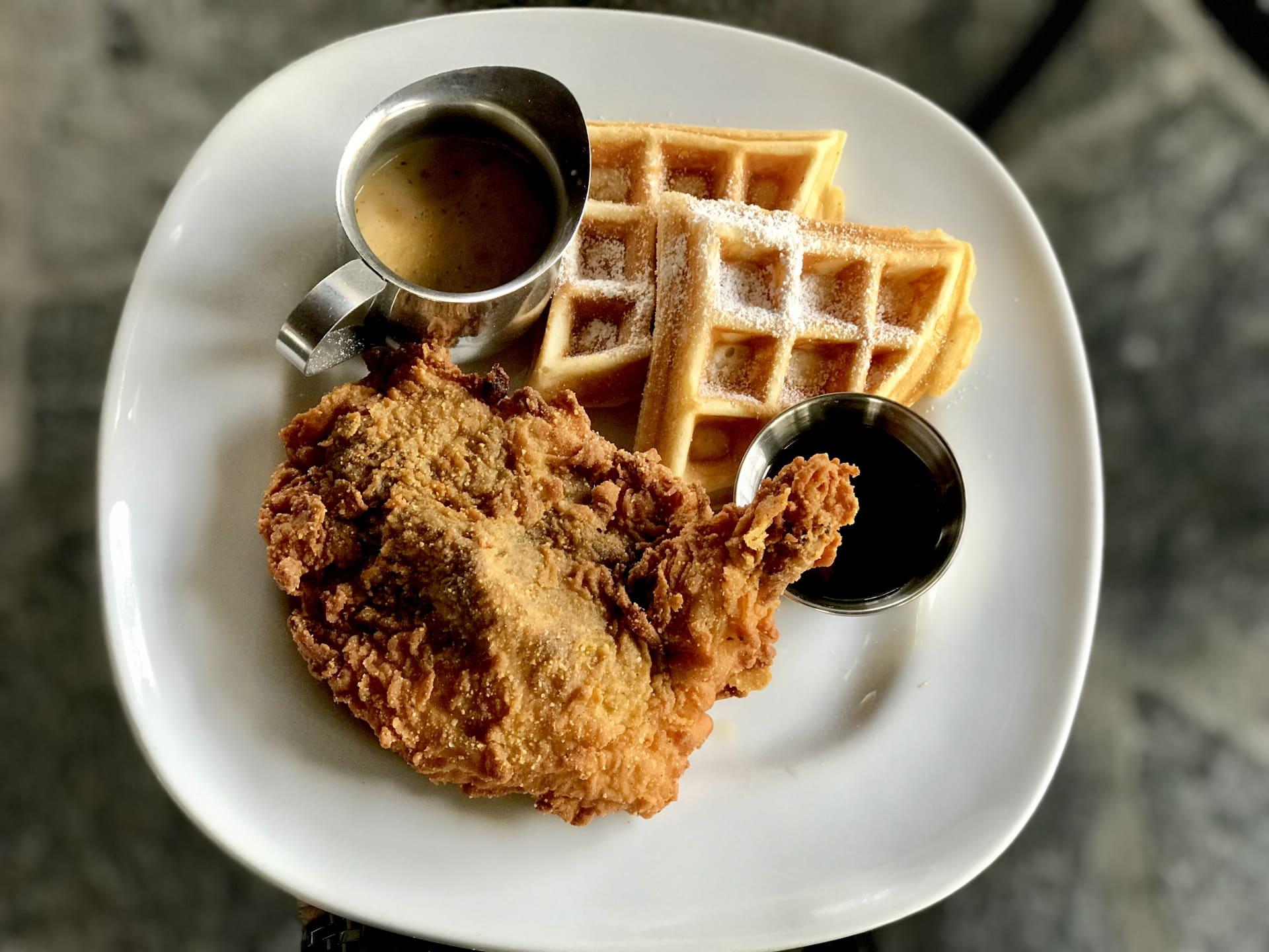 "Waffle Lady'sFried""Free Range""Jidori Chicken n'Waffles"