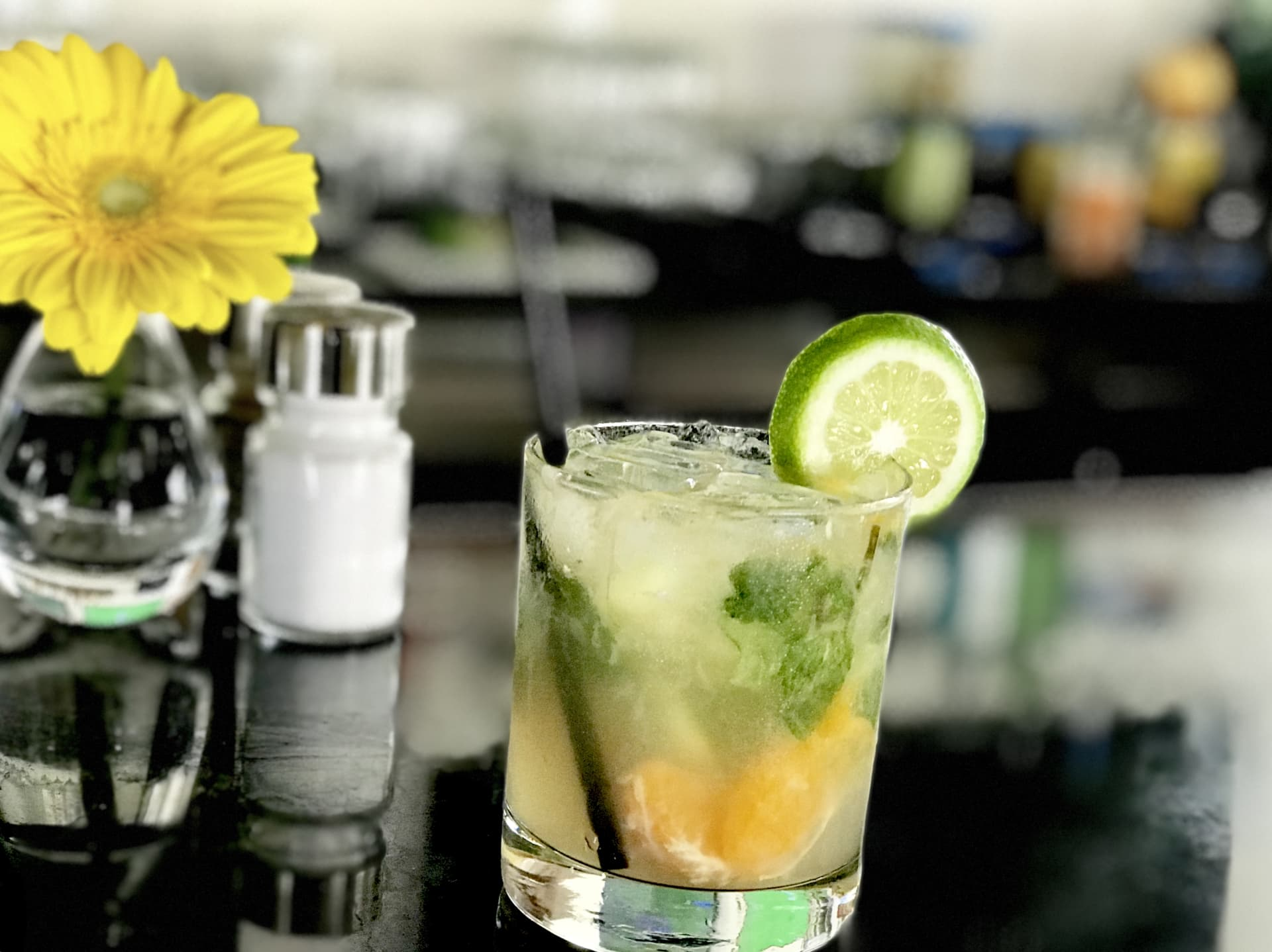 Mississippi Margarita w/ Lime, Mint, Cucumber & Tangerines