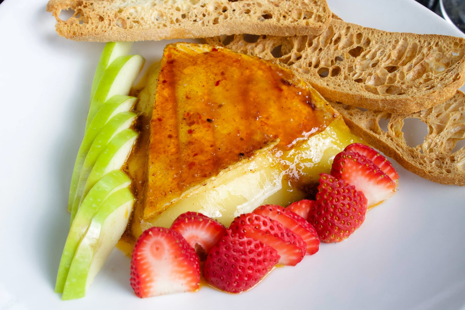 Harissa-Rubbed Baked Brie