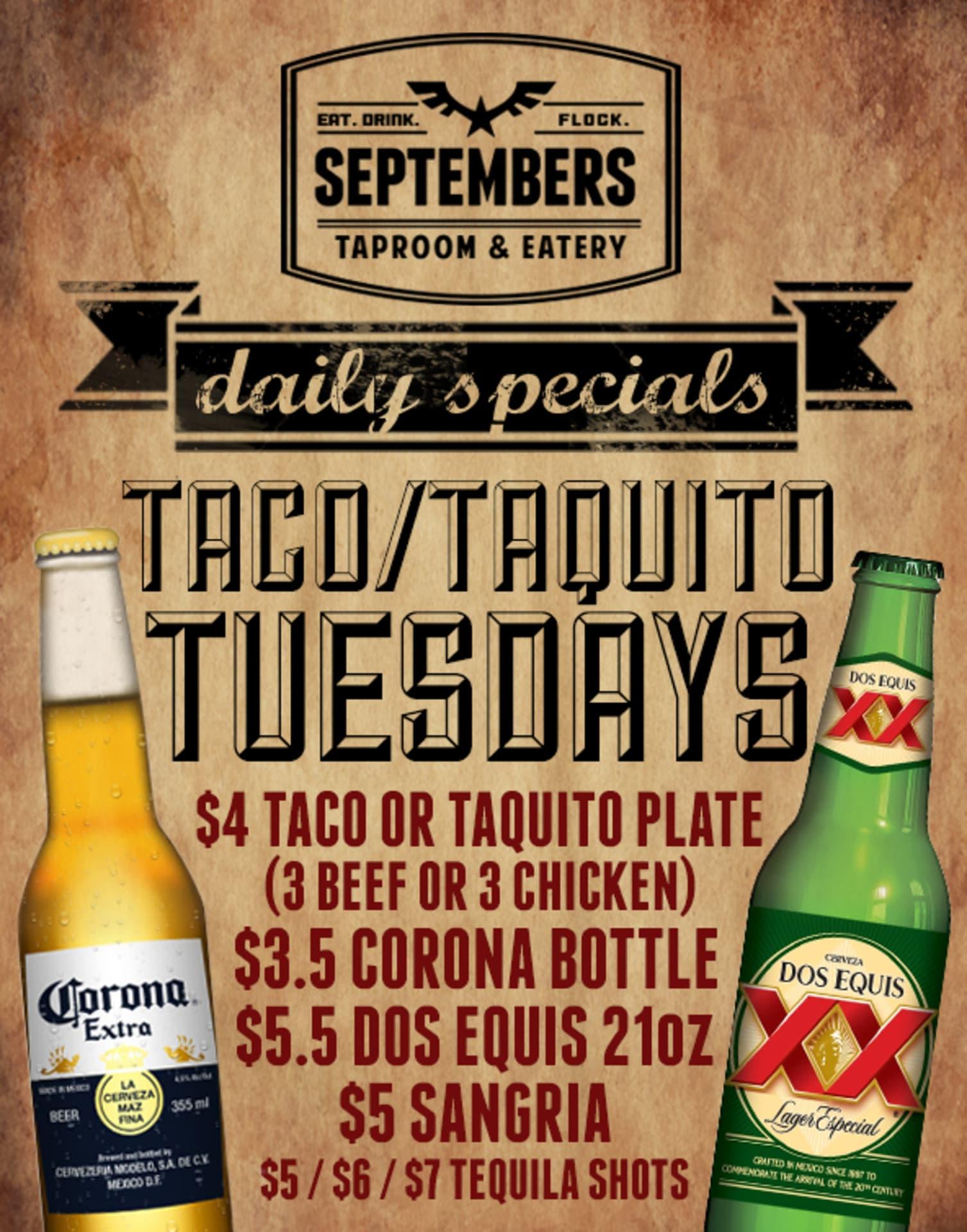 Tuesday   Taco & Taquito Tuesday