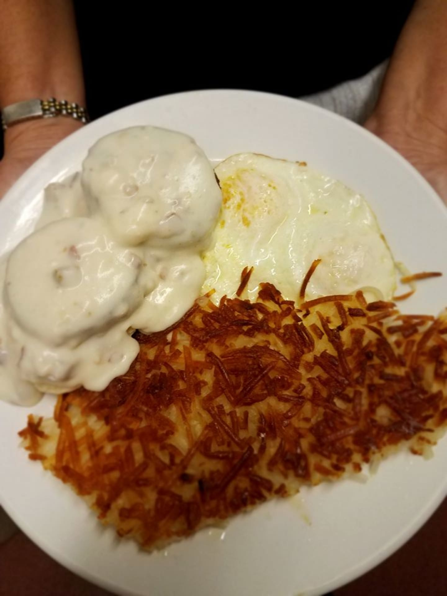 Biscuits & Gravy with Two Eggs