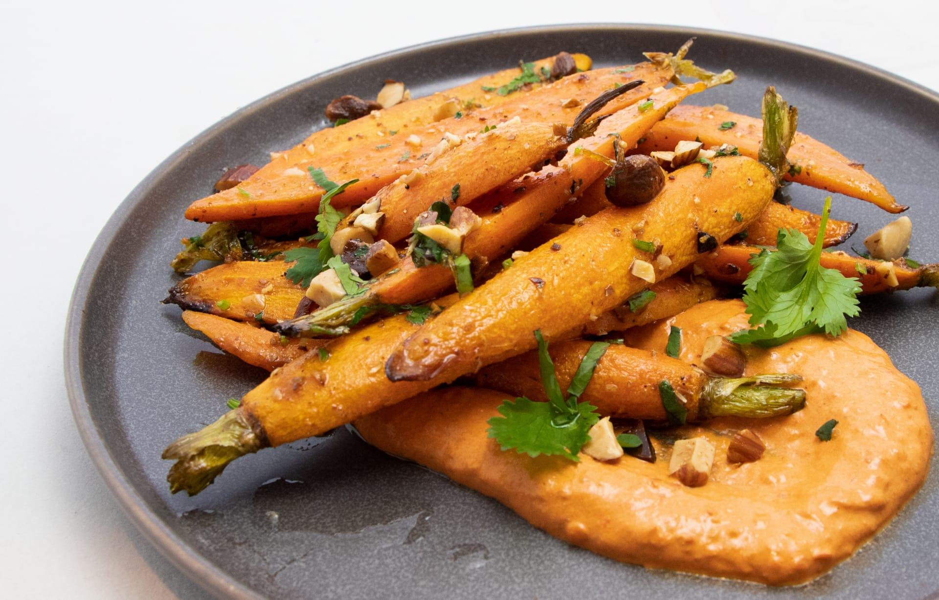 Coriander Roasted Baby Carrots