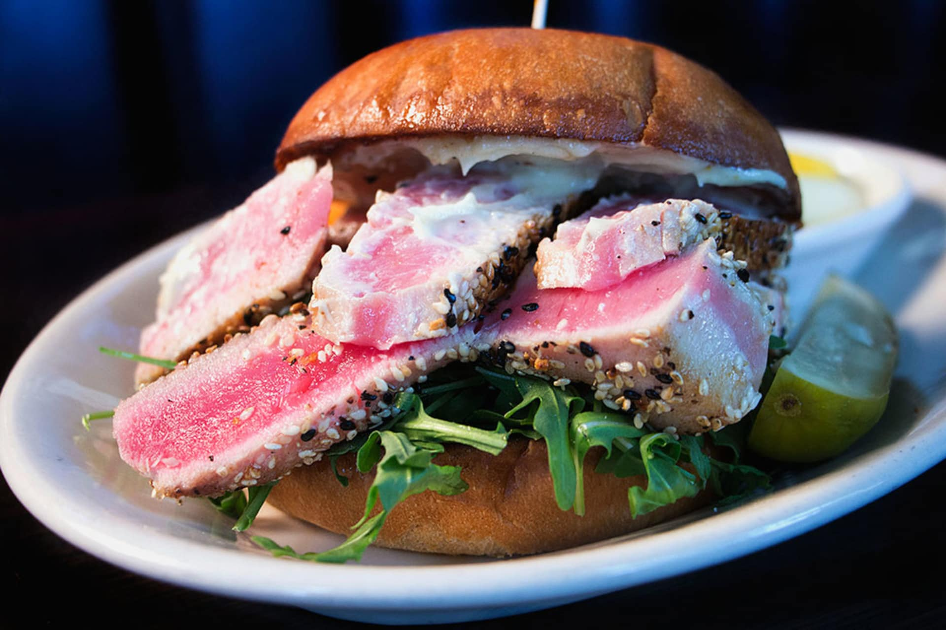 Seared Ahi Burger