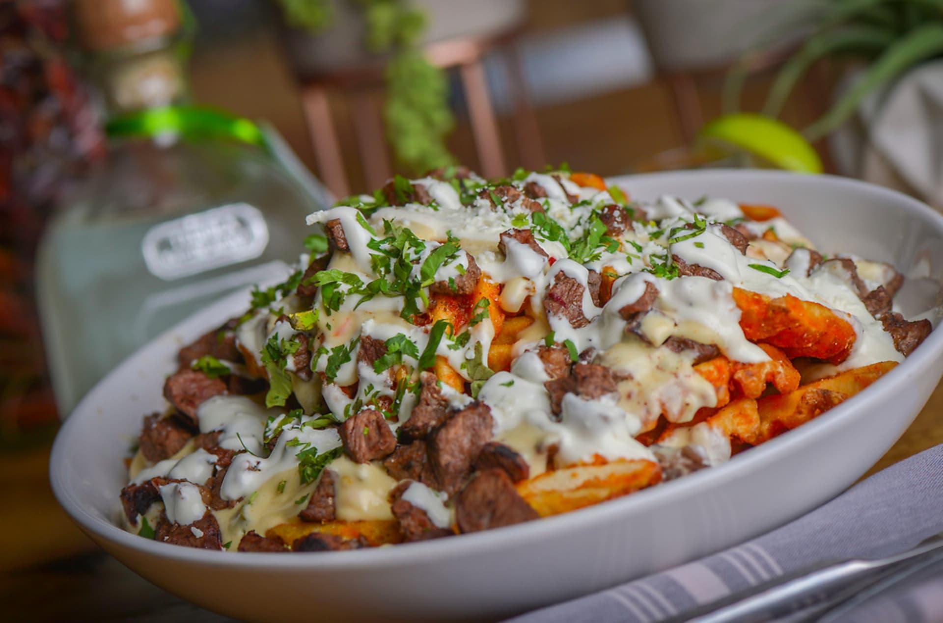 Carne Asada Waffle Fries