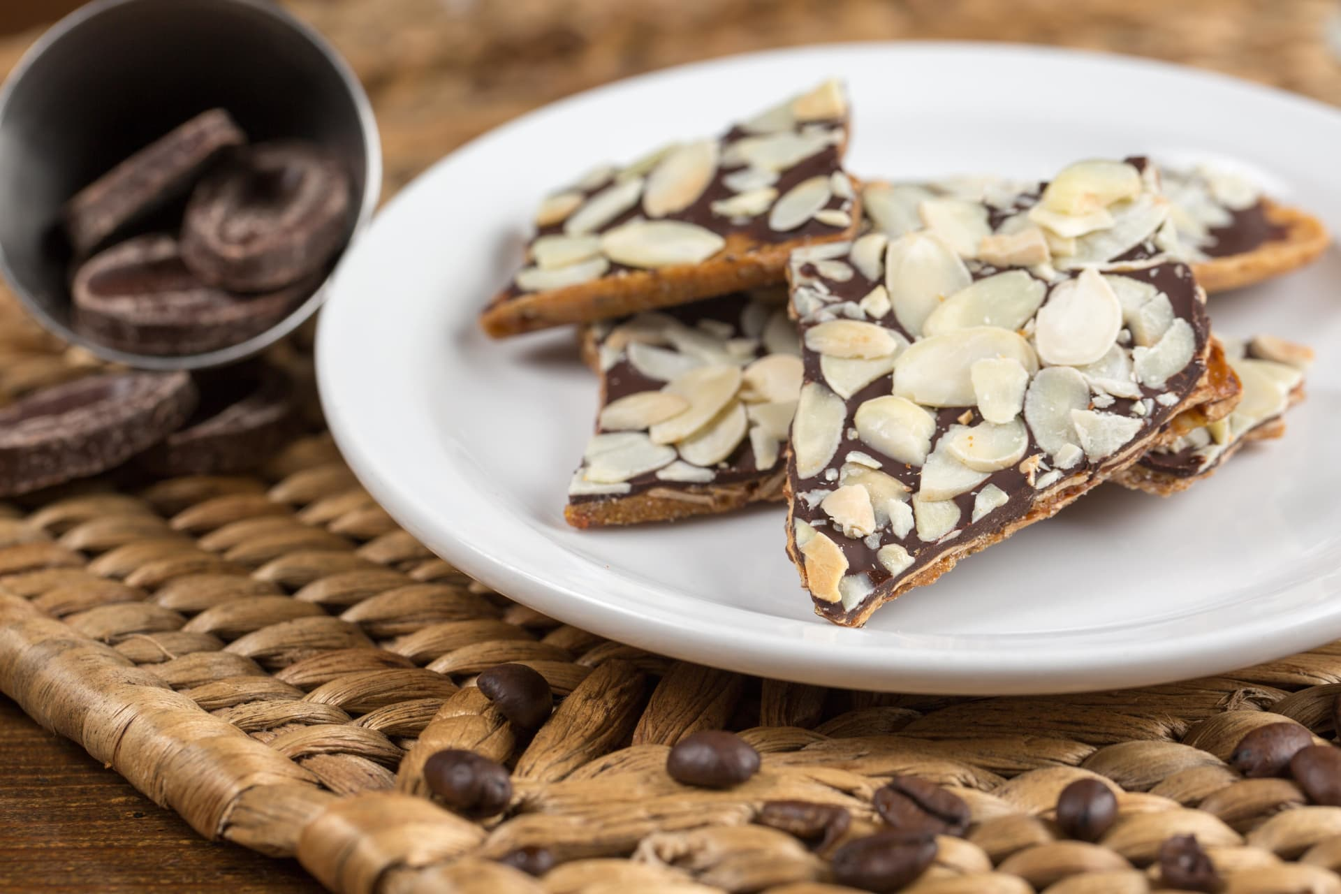 House Made Chocolate Almond Bark