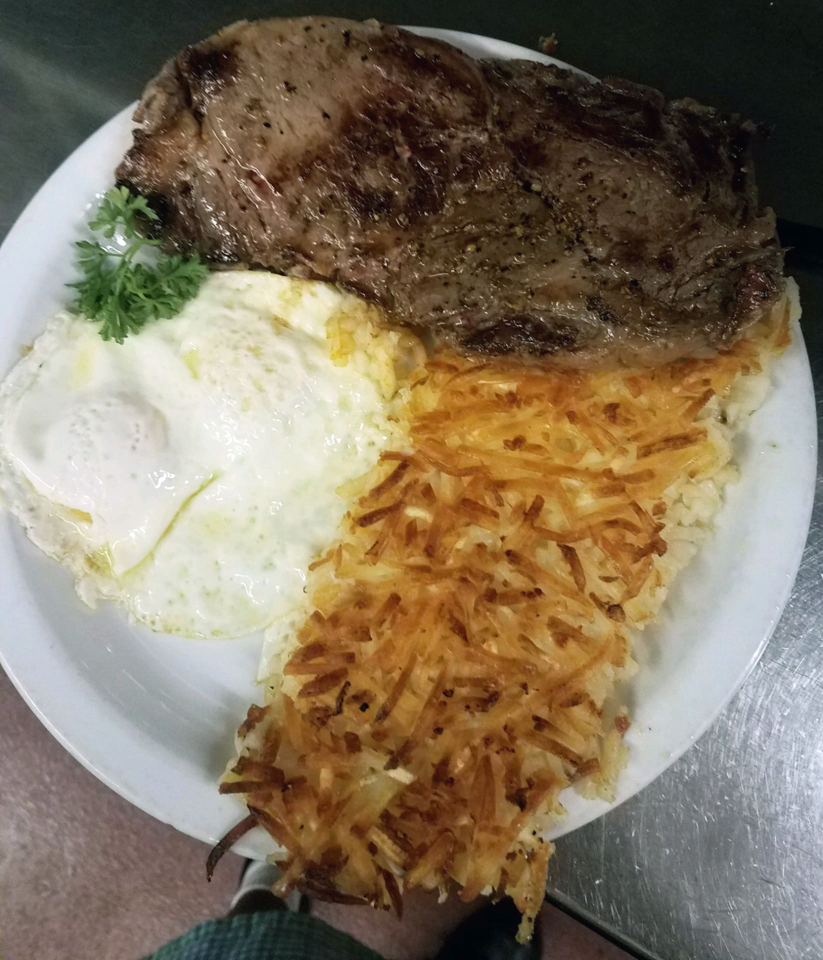 14 oz. Rib Eye Steak & Eggs
