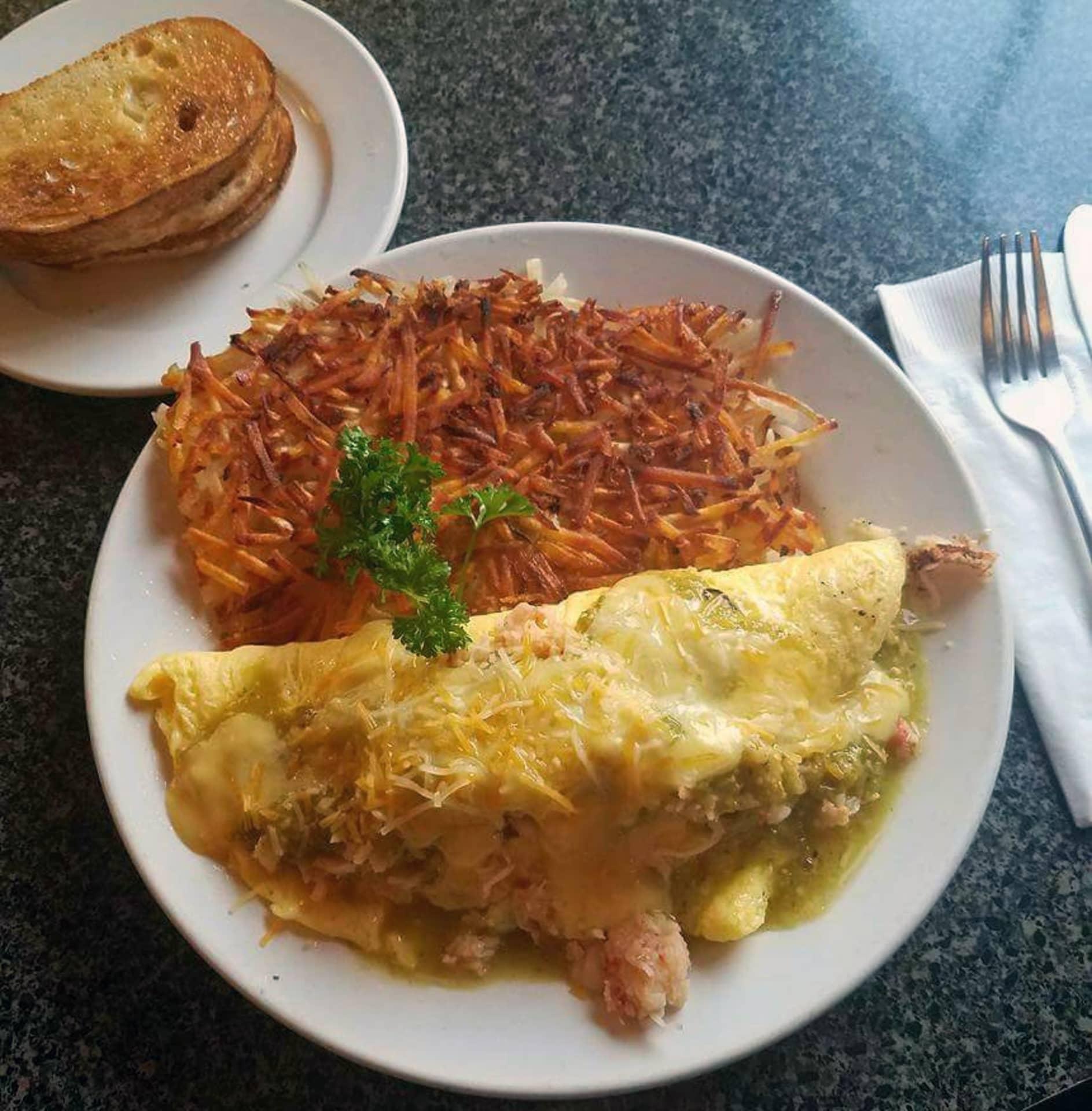 Lobster Omelette with Verde Hollandaise Sauce