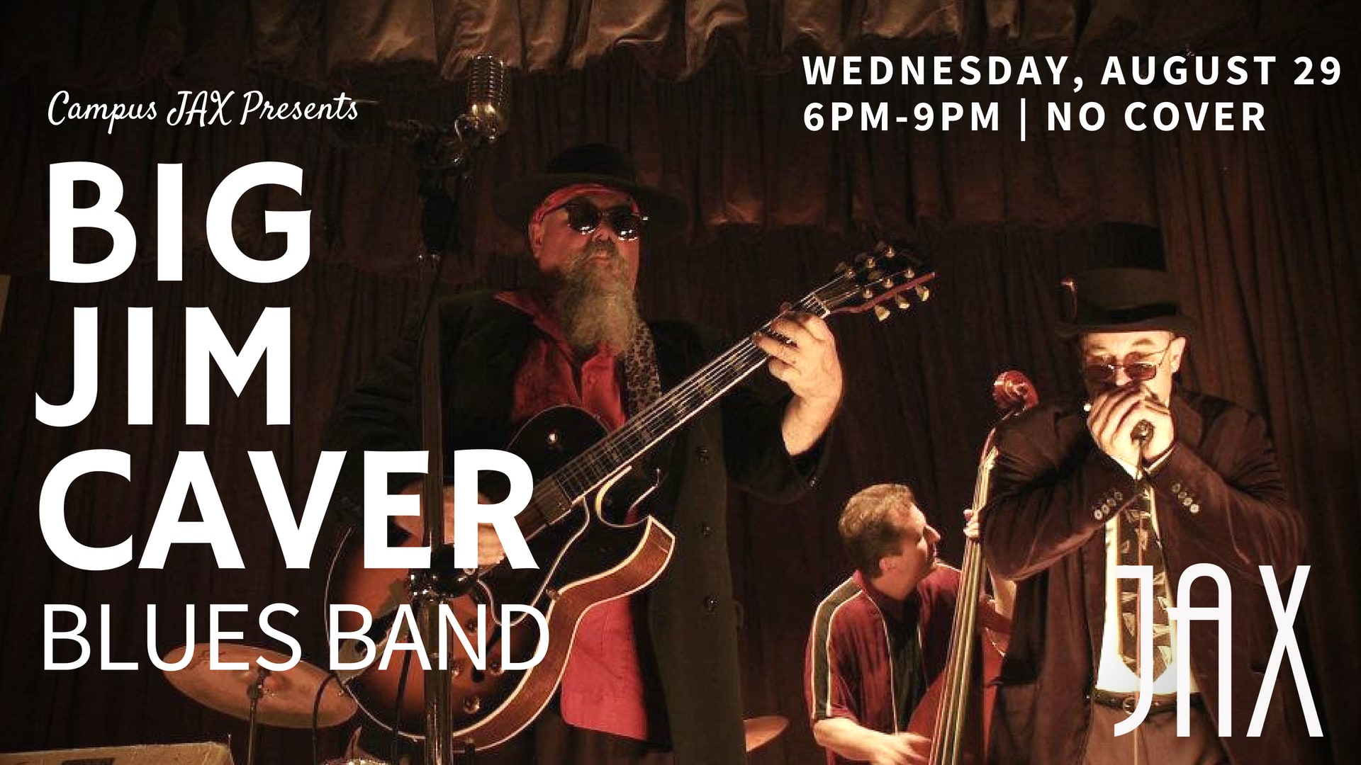August 29 | WEDNESDAY NIGHT BLUES with BIG JIM CAVER