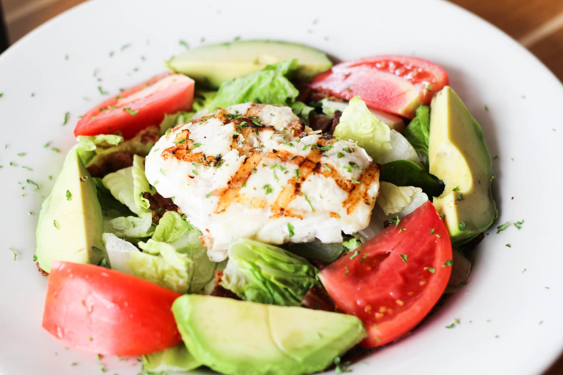 Grilled Grouper Salad