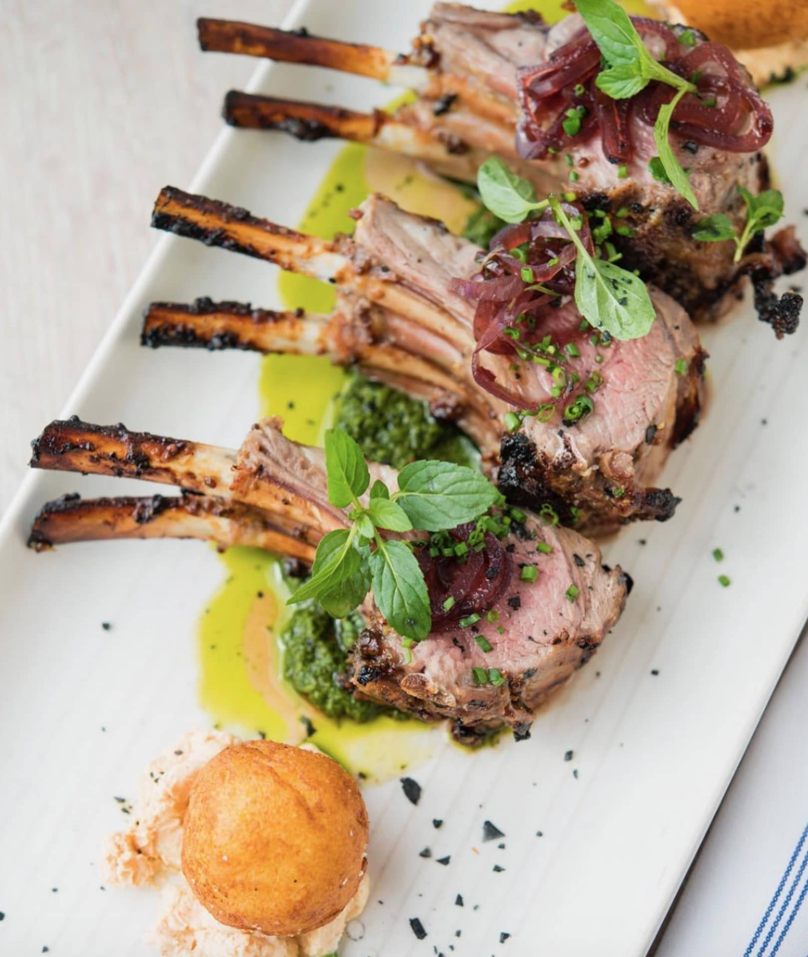 GRILLED NEW ZEALAND LAMB RACK