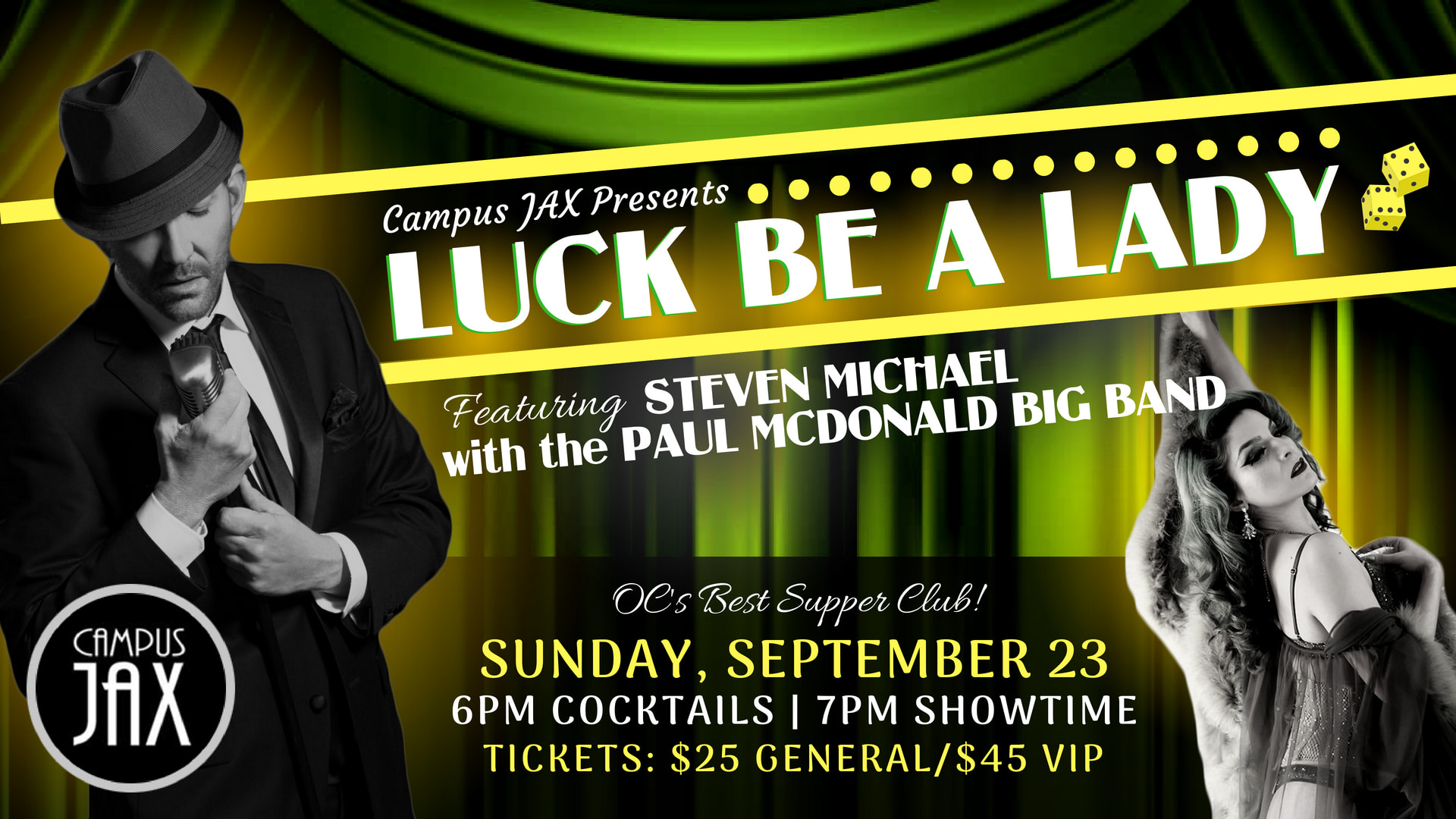 "September 23 | ""LUCK BE A LADY"" BIG BAND SHOW"
