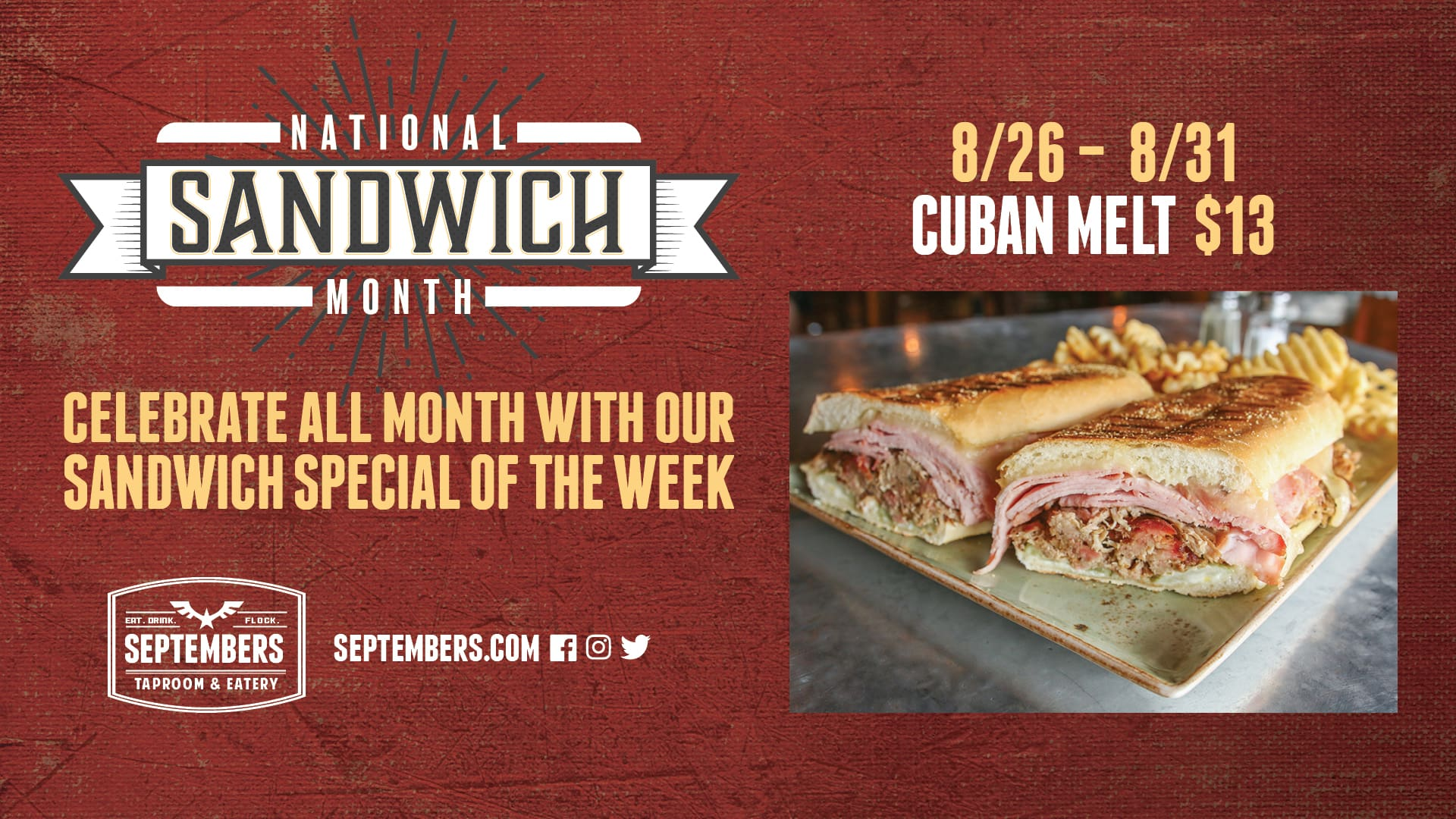 National Sandwich Month - Cuban Melt